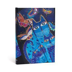 2019 Katzen in Blau mit Schmetterlingen - Angle