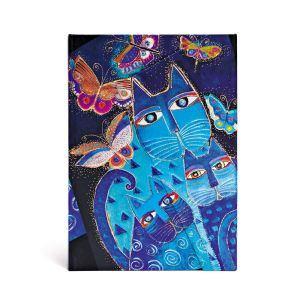 Katzen in Blau mit Schmetterlingen - Front